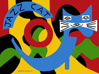 Painting - Jazz Cat by Mike Segal