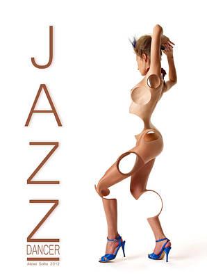 Ballet Dancers Mixed Media - Jazz Dancer by Alexei Solha