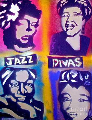 Nina Simone Painting - Jazz Divas  by Tony B Conscious