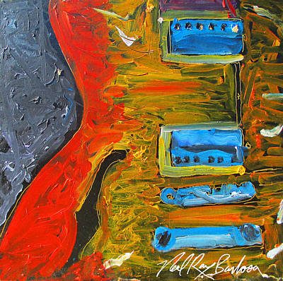 Painting - Jazz Guitar Story by Neal Barbosa