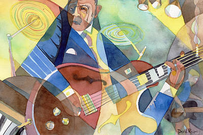 Painting - Jazz Guitarist by David Ralph