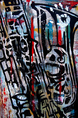 Dog Abstract Art Painting - Jazz Hands By Fidostudio by Tom Fedro - Fidostudio