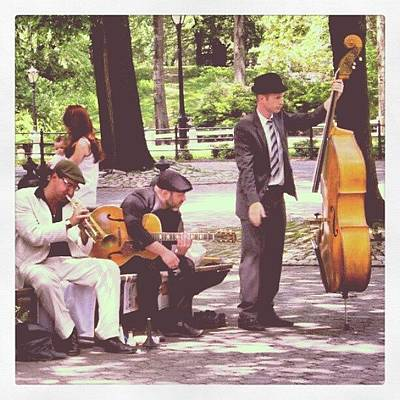 Jazz Wall Art - Photograph - Jazz In Central Park by Lottie H
