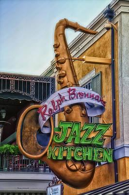 Jazz Kitchen Signage Downtown Disneyland Art Print by Thomas Woolworth