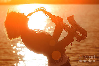 Sax Girl Photograph - Jazz by Konstantin Sutyagin