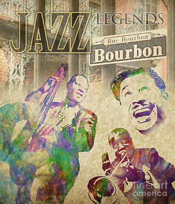 Jazz Legends Art Print by Timothy Lowry