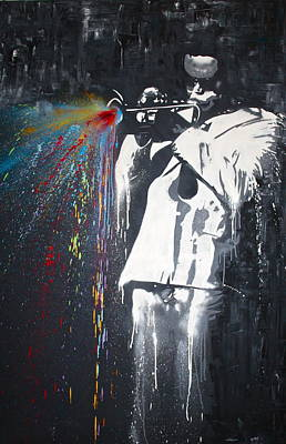 Painting - Jazz Man by Aaron Stansberry