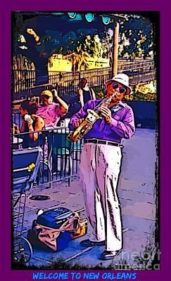Jazz Man Art Print by John Malone