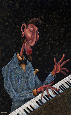 Jazz Man Art Print by Ned Shuchter
