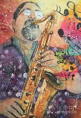 Painting - Jazz Master by Carol Losinski Naylor