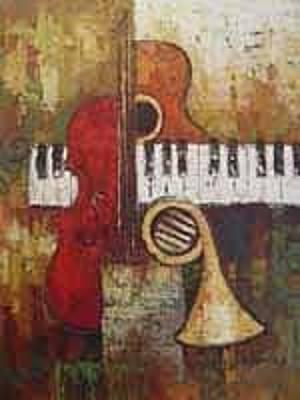 Chello Painting - Jazz Music by Jamie P