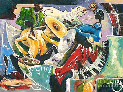 All That Jazz Painting - Jazz No. 3 by Elisabeta Hermann