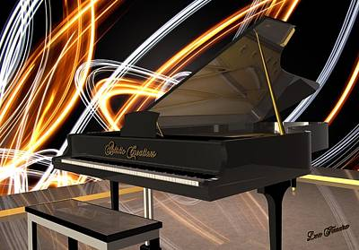 Digital Art - Jazz Piano Bar by Louis Ferreira