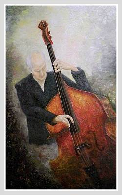 Painting - Jazz Player by Draia Coralia