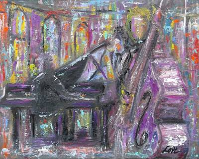 Painting - Jazz Quartet by Joseph Love