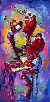 Jazz Rising New Orleans Art Print by Saundra Bolen Samuel