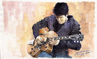 Jazz Legends Wall Art - Painting - Jazz Rock John Mayer 02 by Yuriy Shevchuk