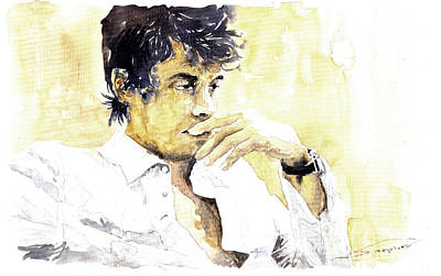 Musiciant Painting - Jazz Rock John Mayer 04  by Yuriy  Shevchuk