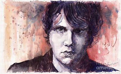 John Mayer Painting - Jazz Rock John Mayer by Yuriy  Shevchuk