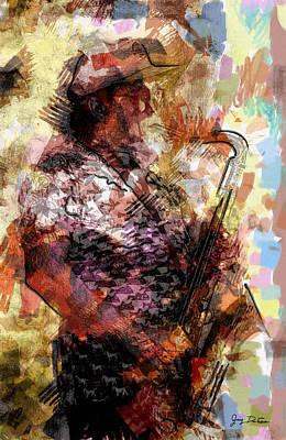 Photograph - Jazz Sax Player by Gary De Capua