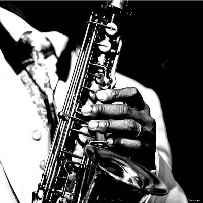 Digital Art - Jazz Saxophonist by Gabriel T Toro