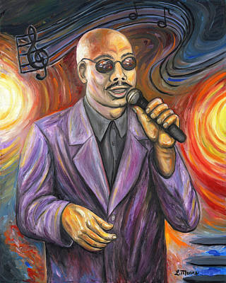 Celebrity Painting - Jazz Singer by Linda Mears
