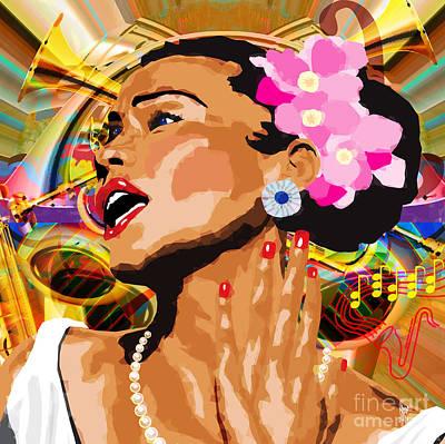 Jazz Singer Art Print by Neil Finnemore