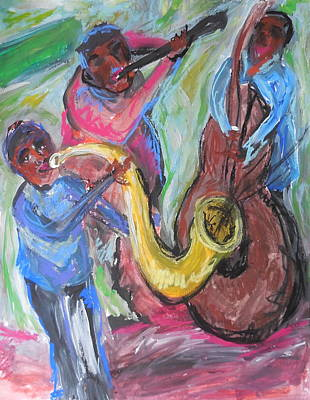 Painting - Jazz Trio Preservation Hall by Made by Marley
