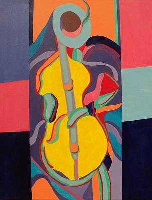 Painting - Jazzamatazz Cello by Angelo Thomas