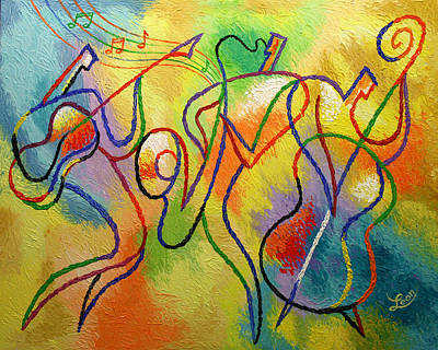 Afro-cuban Jazz Paintings Painting Rights Managed Images and