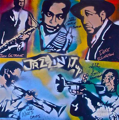 Conscious Painting - Jazzin It Up 1 by Tony B Conscious