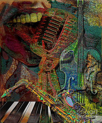 Piano Painting - Jazzing Up The Place by Reggie Duffie