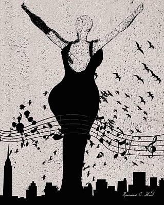 Jazzinthesky Art Print