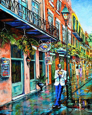Jackson Square Painting - Jazz'n by Dianne Parks