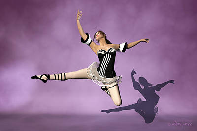 Jazzy Jete Art Print by Andre Price
