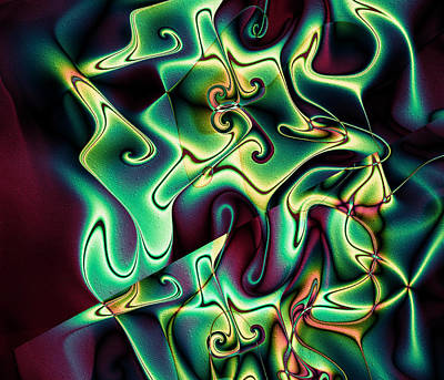 Digital Art - Jazzy by Kiki Art