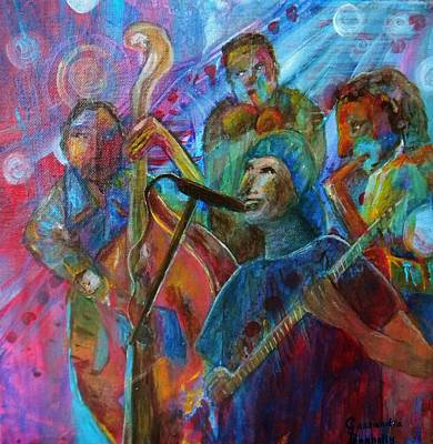 Creative Passages Painting - Jazzy Rapper by Cassandra Donnelly