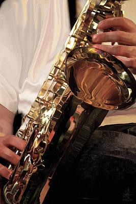 Photograph - Jazzy Sax by Pennie  McCracken