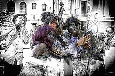 Jazzy Zombie Selfie Art Print by John Haldane