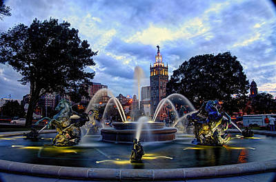 J. C. Nichols Fountain Art Print