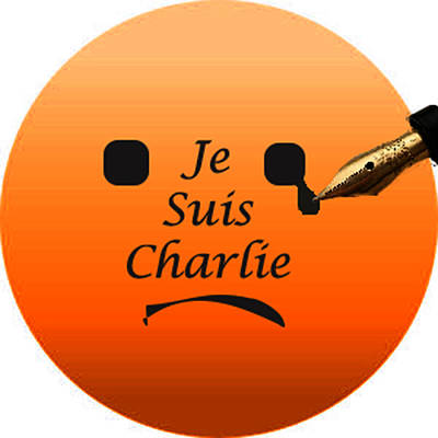 Digital Art - Je Suis Charlie Face by Stephanie Grant