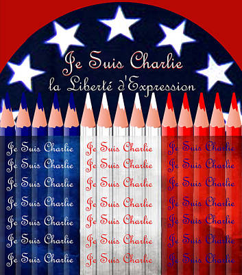 Je Suis Charlie Freedom Of Speech Art Print by Michele Avanti