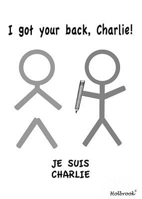 Cartoonist Digital Art - Je Suis Charlie by Glenn Holbrook