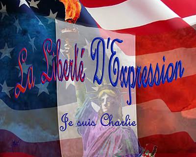 Liberte Digital Art - Je Suis Charlie by Michele Avanti