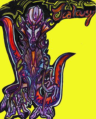 Jealousy Art Print by Tiffany Selig