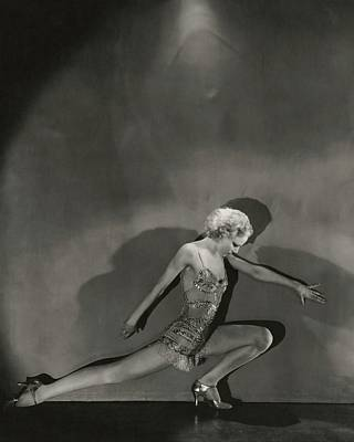 Leisure Photograph - Jean Barry In Evergreen by George Hoyningen-Huene