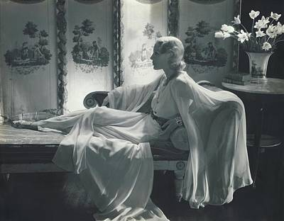 Jessie Photograph - Jean Barry Wearing A Jessie Franklin Turner Dress by Edward Steichen