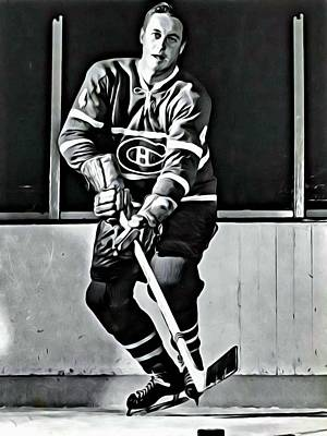 Canadiens Painting - Jean Beliveau by Florian Rodarte