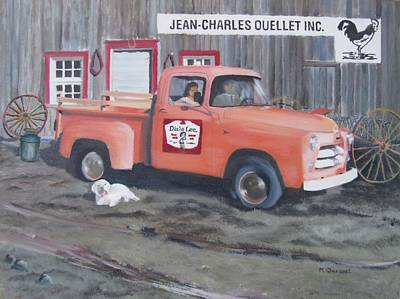 Milk Can Painting - Jean-charles Ouellet Inc by Marcel Quesnel