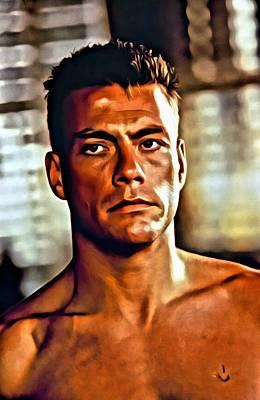 Jean Painting - Jean Claude Van Damme by Florian Rodarte